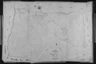 Plan cadastral ancien, 1827. Section B2 du Bourg, échelle originale 1/2500e.