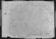 Plan cadastral ancien, 1827. Section B1 de Chadenatte, échelle originale 1/2500e.