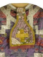 chasuble, 2 manipules : ornement violet n°2