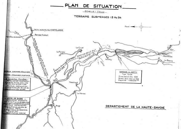 Plan de situation, 1951