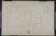 Plan cadastral ancien, 1826. Section B4 dite du Bourg, échelle originale 1/2500e.
