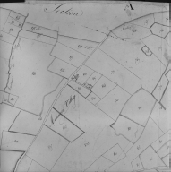 Plan cadastral ancien, 1827. Section A2, détail de Menacey, village, échelle originale 1/2500e.