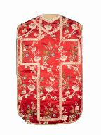 chasuble, étole, manipule : ornement rouge n°2