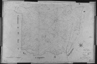 Plan cadastral ancien, 1827. Section B2 de Chadenatte, échelle originale 1/2500e.