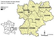 Carte de situation de l'aire d'étude