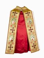 chape, chasuble : ornement blanc n°1