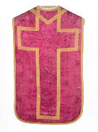 chasuble, étole, manipule, voile de calice : ornement rose