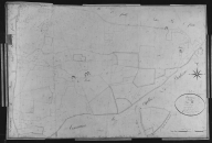 Plan cadastral ancien, 1826. Section B2 dite du Bourg, échelle originale 1/2500e.