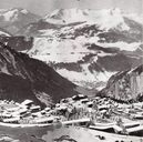 Projet Vuarnet - Bobet - Jolivel, 1961-1962. Photomontage du projet d'ensemble. In : Le Ski, 1961