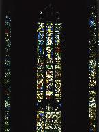 Vue d'ensemble de la baie 0 de la Sainte-Chapelle du château des ducs de Savoie à Chambéry