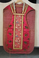 Ornement rouge : chasuble