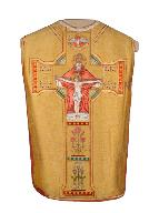 chasuble, étole : ornement doré