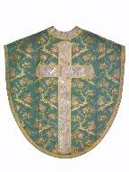 chasuble : ornement vert n°1